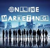 Online-begrepp för design för marknadsföringsdiagramord royaltyfria foton