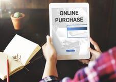 Online-begrepp för kommers för köpinternetshopping Royaltyfria Bilder