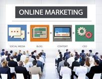 Online-begrepp för mål för strategi för marknadsföringsaffärsinnehåll vektor illustrationer