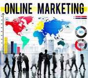 Online-begrepp för marknadsföringskommersDigital internet stock illustrationer