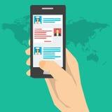 Online-begrepp för medicinsk konsultation Arkivfoton