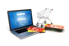 online-begrepp för shopping 3d Royaltyfri Fotografi