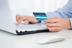Online betaling stock afbeelding