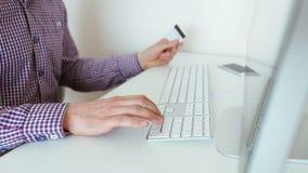 Online betaling stock video