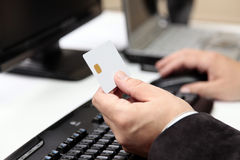 Online Betaling. Elektronische handel Stock Foto