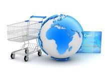 Online betalingen - abstracte illustratie Stock Foto