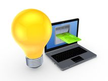 Online betalingenconcept. Stock Foto's