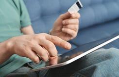 Online betalingsconcept Stock Afbeelding