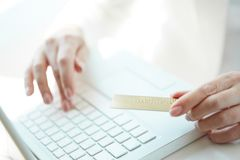 Online-betalning Royaltyfri Foto