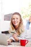 Online-betalning Arkivbilder