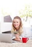 Online-betalning Arkivfoto