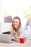 Online-betalning Arkivfoton