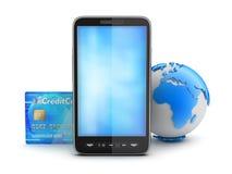 Online-betalningar - begreppsillustration Fotografering för Bildbyråer