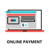 Online-betalningsymbol, för diagram och rengöringsdukdesign Royaltyfri Foto
