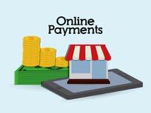 Online-betalningsymboler Royaltyfri Bild