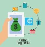 Online-betalningsymboler Arkivfoto