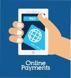 Online-betalningsymboler Arkivfoton