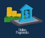 Online-betalningsymboler Royaltyfri Fotografi