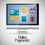 Online-betalningsymboler Royaltyfria Bilder