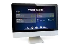 Online betting Stock Photography