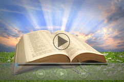 Online bible reading Stock Photography