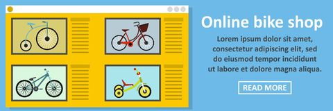 Online bike shop banner horizontal concept Stock Photo