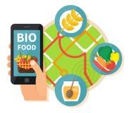 Online bioproductenonderzoek Stock Foto