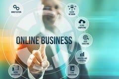 Online biznes Fotografia Royalty Free