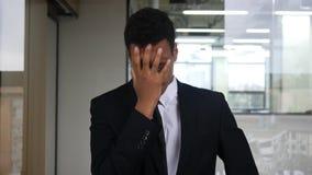 Online Biznesowa strata, Handlarska biznesmen reakcja obraz royalty free