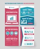 Online Biznesowy Wektorowy broszurka szablon ilustracji