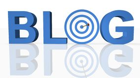 Online Blog Concept. In 3D Stock Photo