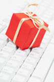 online Boże Narodzenie zakupy Zdjęcie Stock