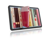 Online boekenrek royalty-vrije illustratie