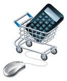 Online boekhoudingsconcept Stock Fotografie