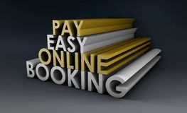 Online Booking. System in a 3d Illustration vector illustration