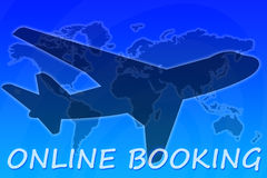 Online booking Stock Image