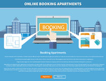 Online Booking Apartments Royalty Free Stock Photos