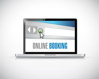 online booking browser concept illustration design Royalty Free Stock Images