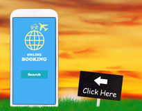 Online Booking Concept Royalty Free Stock Photography