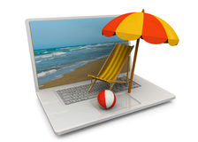 Online Booking Concept - 3D Stock Image