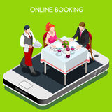 Online Booking Concept 3D Isometric People Stock Photo