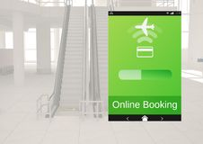 Online Booking Flight App Interface Royalty Free Stock Photo