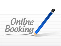 Online booking message sign illustration design Stock Photo