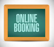 online booking road sign illustration design Stock Photography