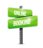 online booking sign illustration design Royalty Free Stock Photography