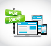 online booking sign technology concept Stock Images