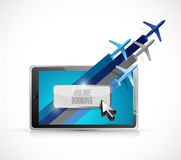online booking on a tablet. illustration Royalty Free Stock Images