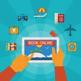 Online booking vector concept Stock Images