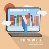 Online books modern vector image. Can be use for background, banner and poster royalty free illustration