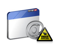 Online browser. internet surveillance illustration Royalty Free Stock Photos